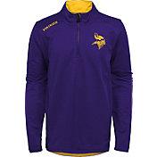 NFL Team Apparel Youth Minnesota Vikings Unlock Purple Quarter-Zip Pullover