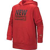 New Balance Boy's Solid Wordmark Hoodie