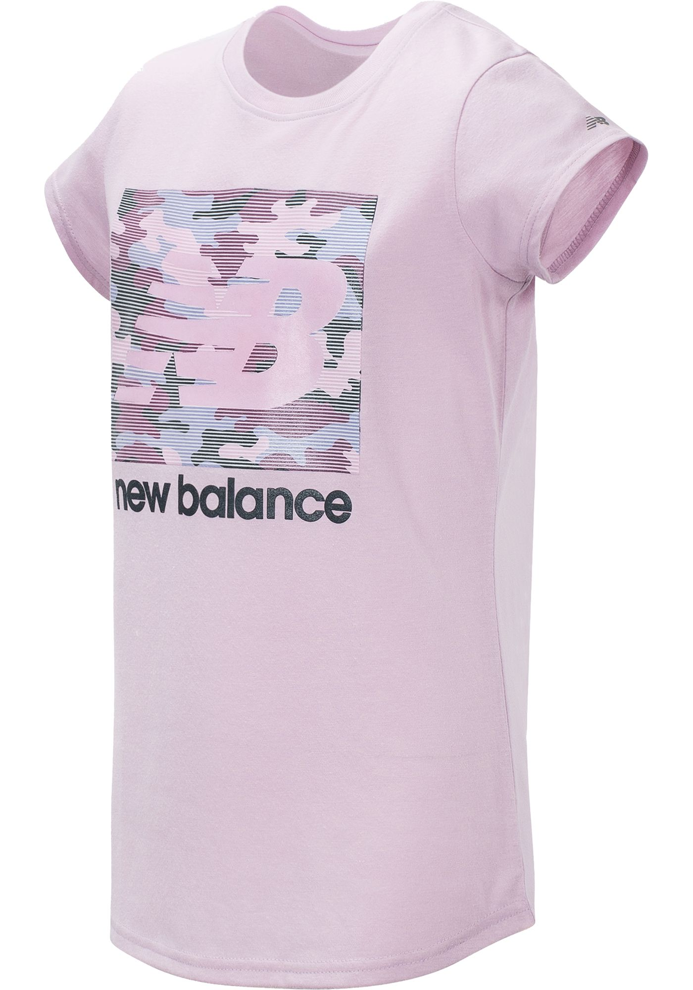 New Balance Girl's Camo Logo T-Shirt