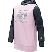 New Balance Little Girls' Color Block Logo Hoodie