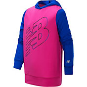 New Balance Little Girls' Colorblock Logo Hoodie