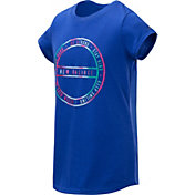 New Balance Girl's Circle Logo T-Shirt