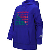 New Balance Little Girls' Screen Print Logo Graphic Hoodie