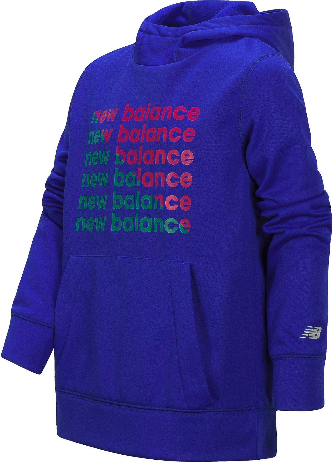 New Balance Little Girls' Screen Print Logo Graphic Hoodie