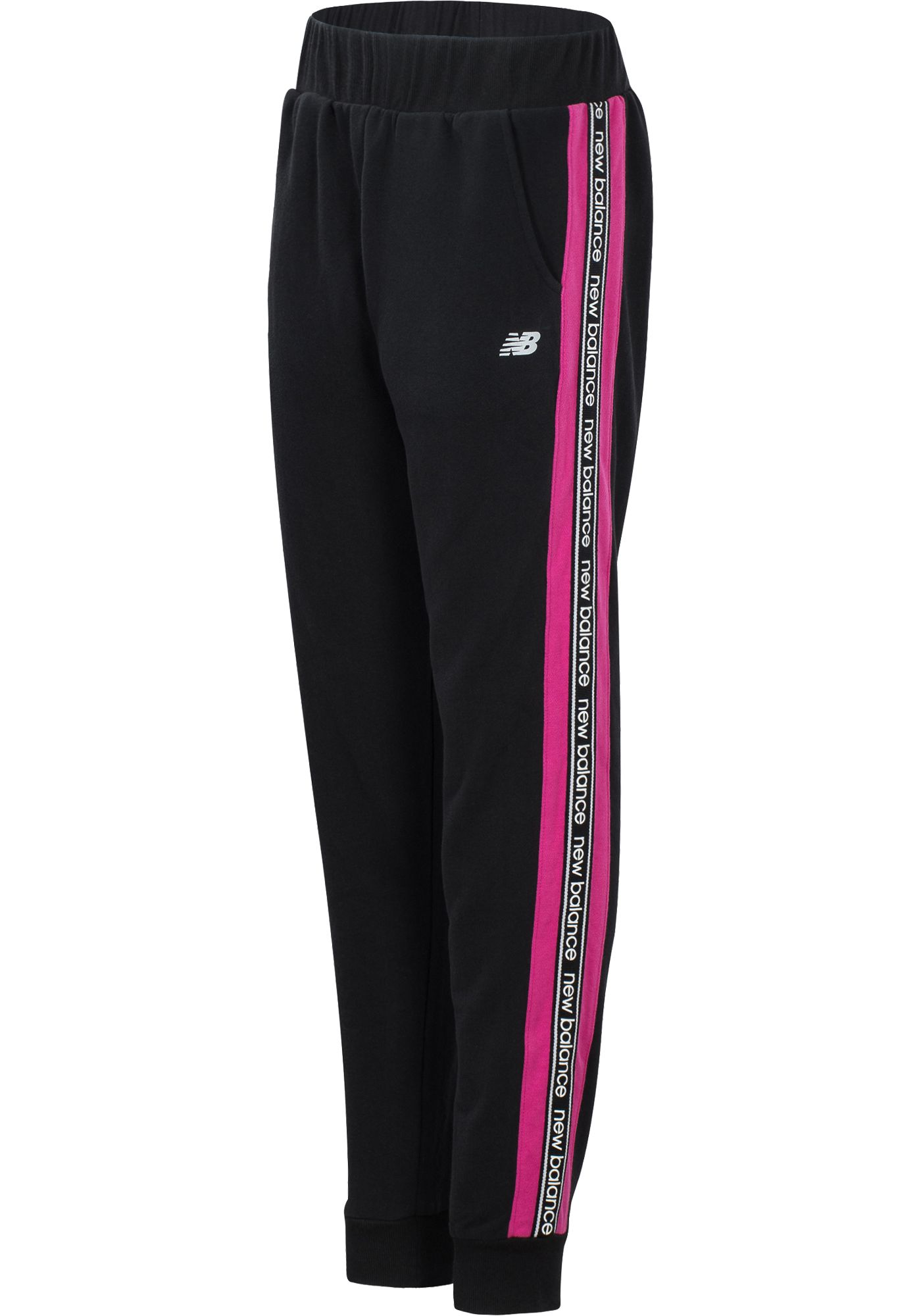 New Balance Girl's Side Tape Joggers
