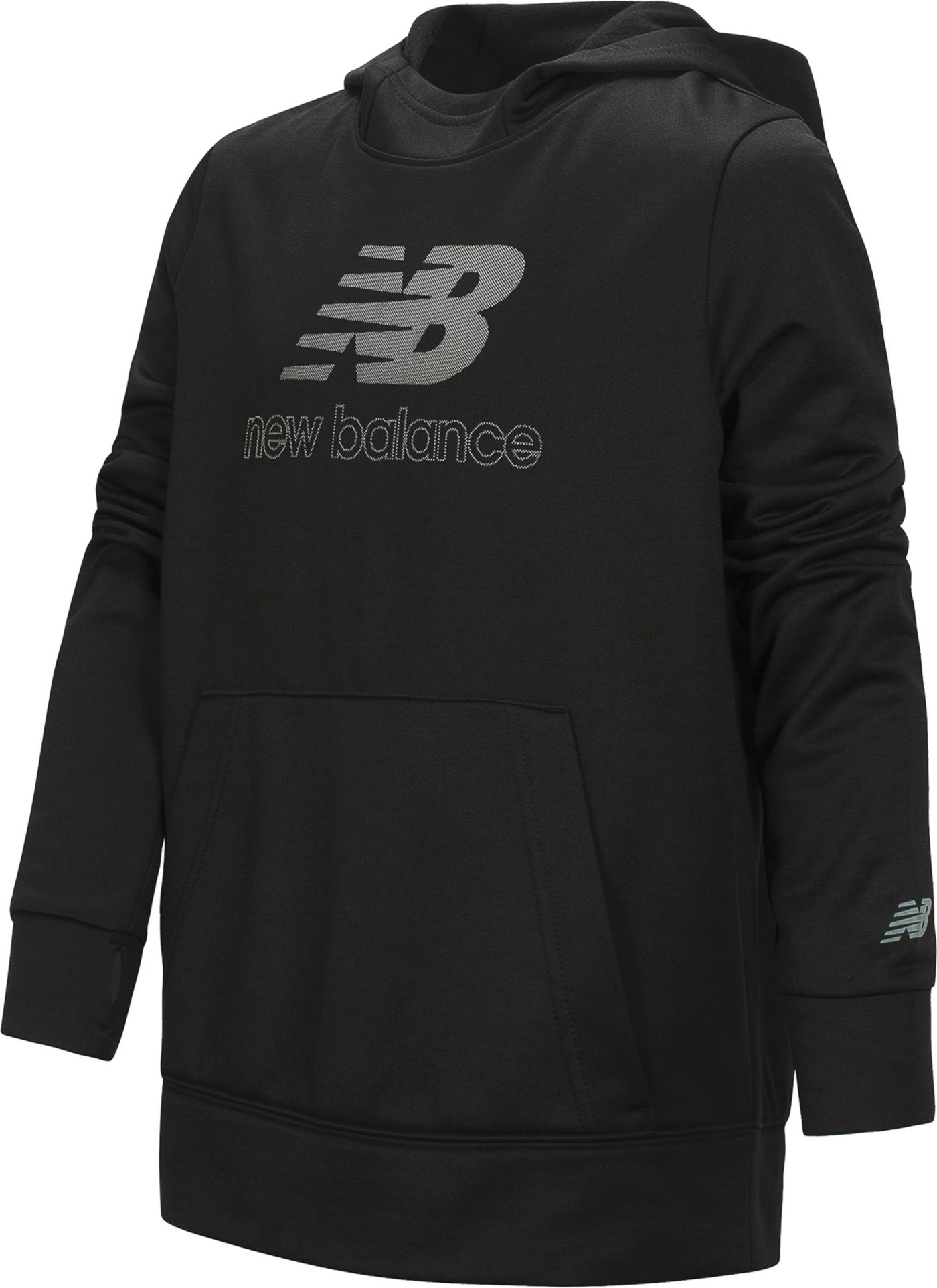 New Balance Little Girls' Solid Logo Graphic Hoodie