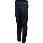 New Balance Girl's Speckled Print Tights