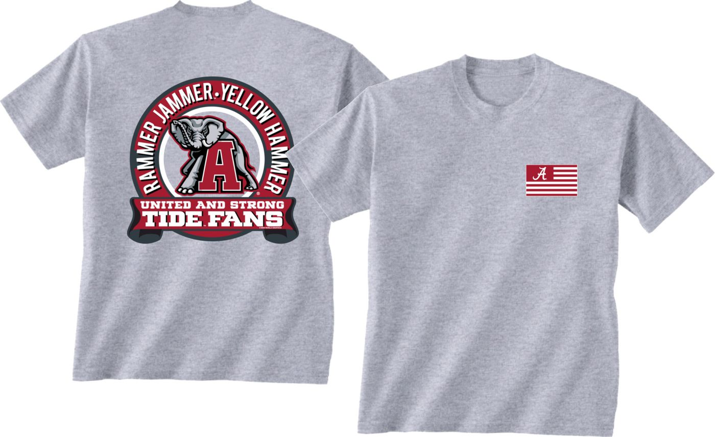 New World Graphics Men's Alabama Crimson Tide Grey Equals T-Shirt