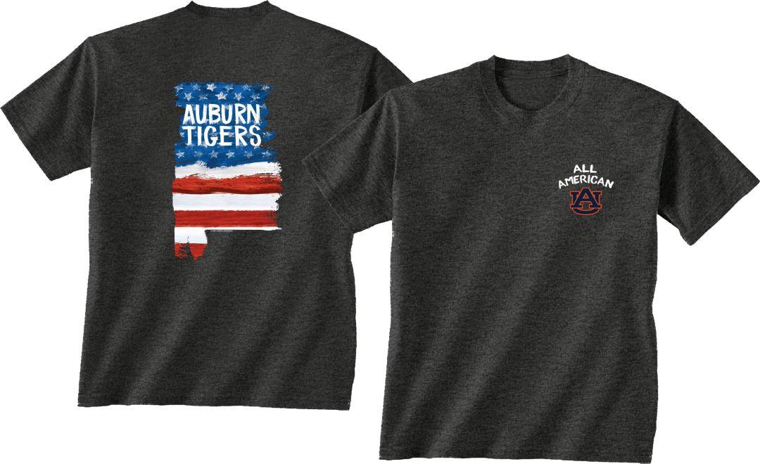 sports shoes a5766 5be5f New World Graphics Men's Auburn Tigers Grey Patriotic T-Shirt