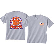 New World Graphics Men's Clemson Tigers Grey Equals T-Shirt