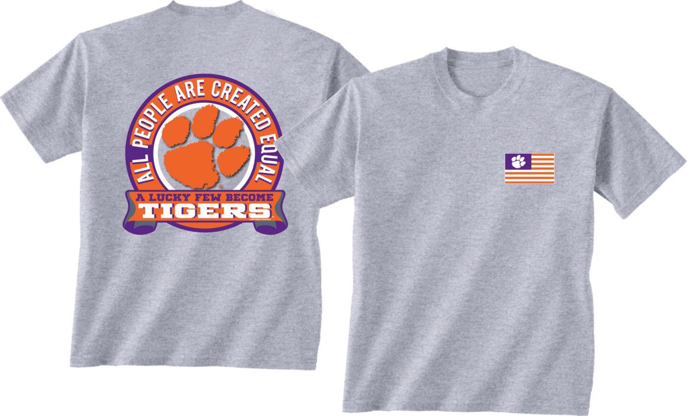 New World Graphics Men's Clemson Tigers Grey Equals T-Shirt
