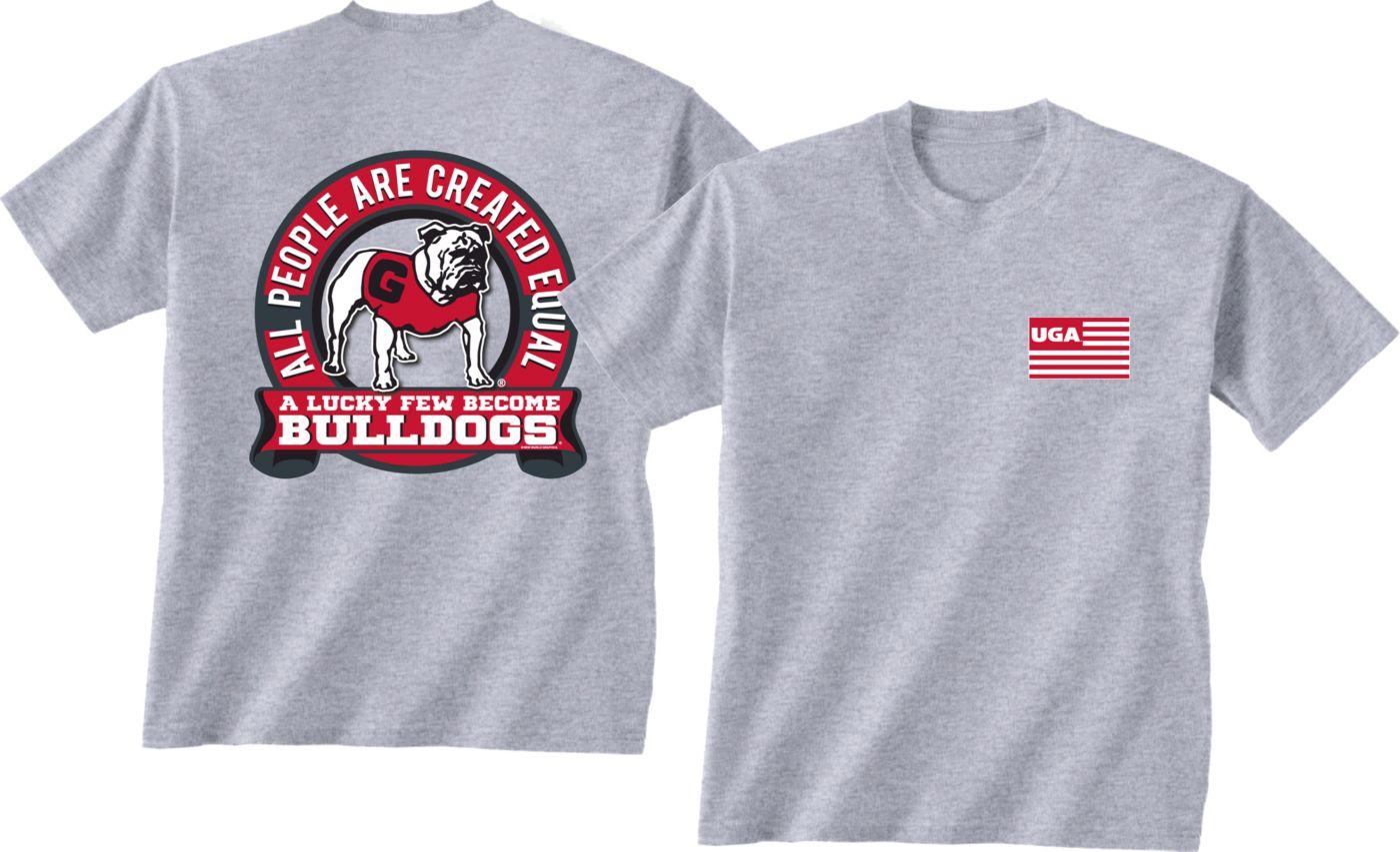 New World Graphics Men's Georgia Bulldogs Grey Equals T-Shirt