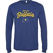 BuffaLove Men's Leg's Go Buffalo Navy Long Sleeve Shirt