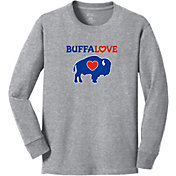BuffaLove Youth Traditional Grey Long Sleeve Shirt