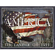America The Land of the Free Tin Sign