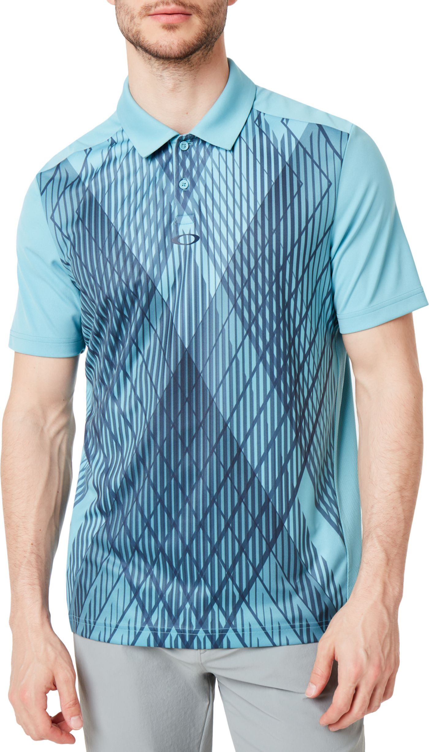 Oakley Men's Cross Graphic Golf Polo
