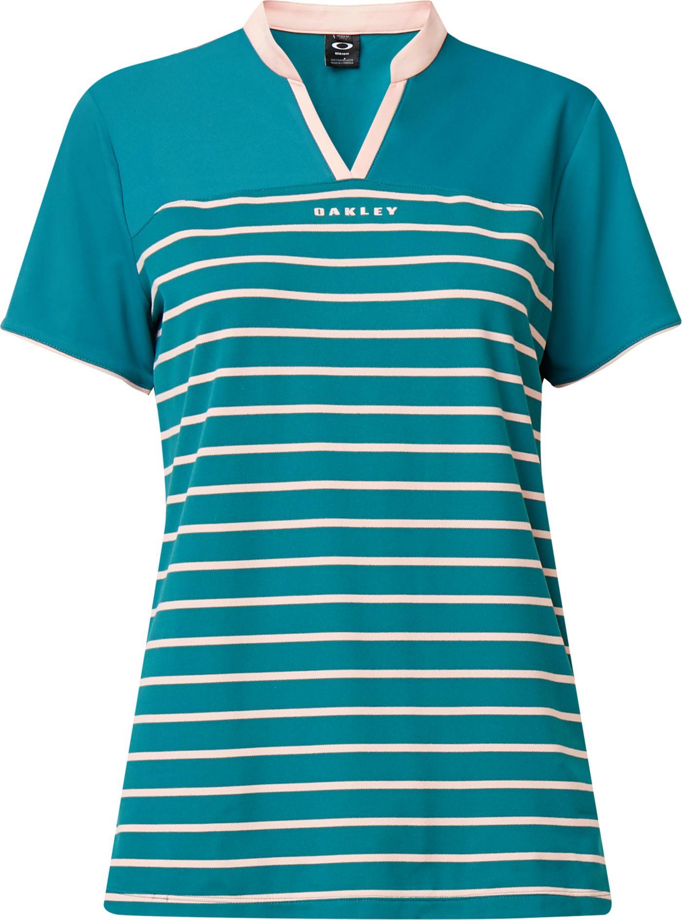 Oakley Women's Bella Striped Short Sleeve Golf Polo