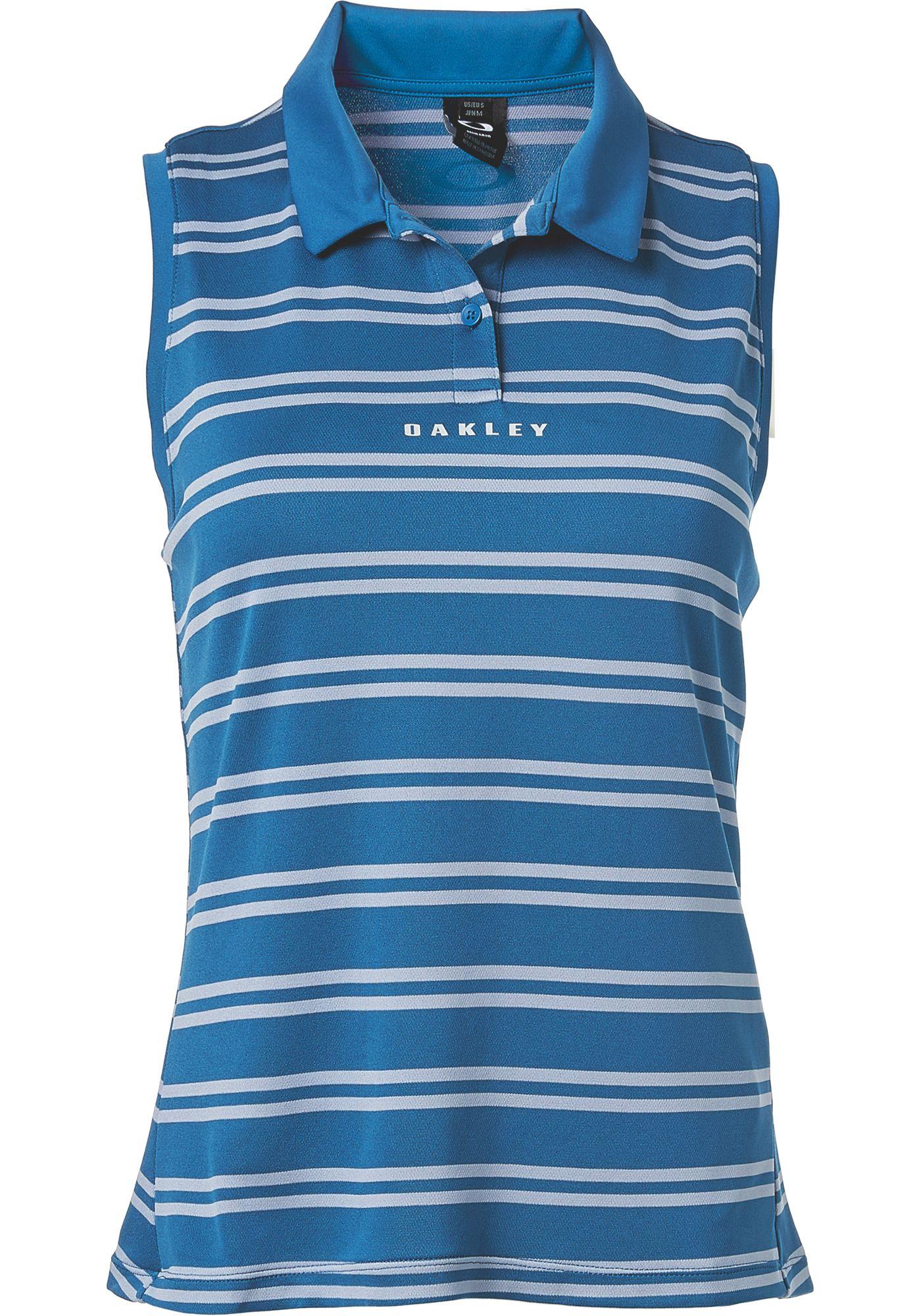 Oakley Women's Enjoy Stripe Sleeveless Golf Polo