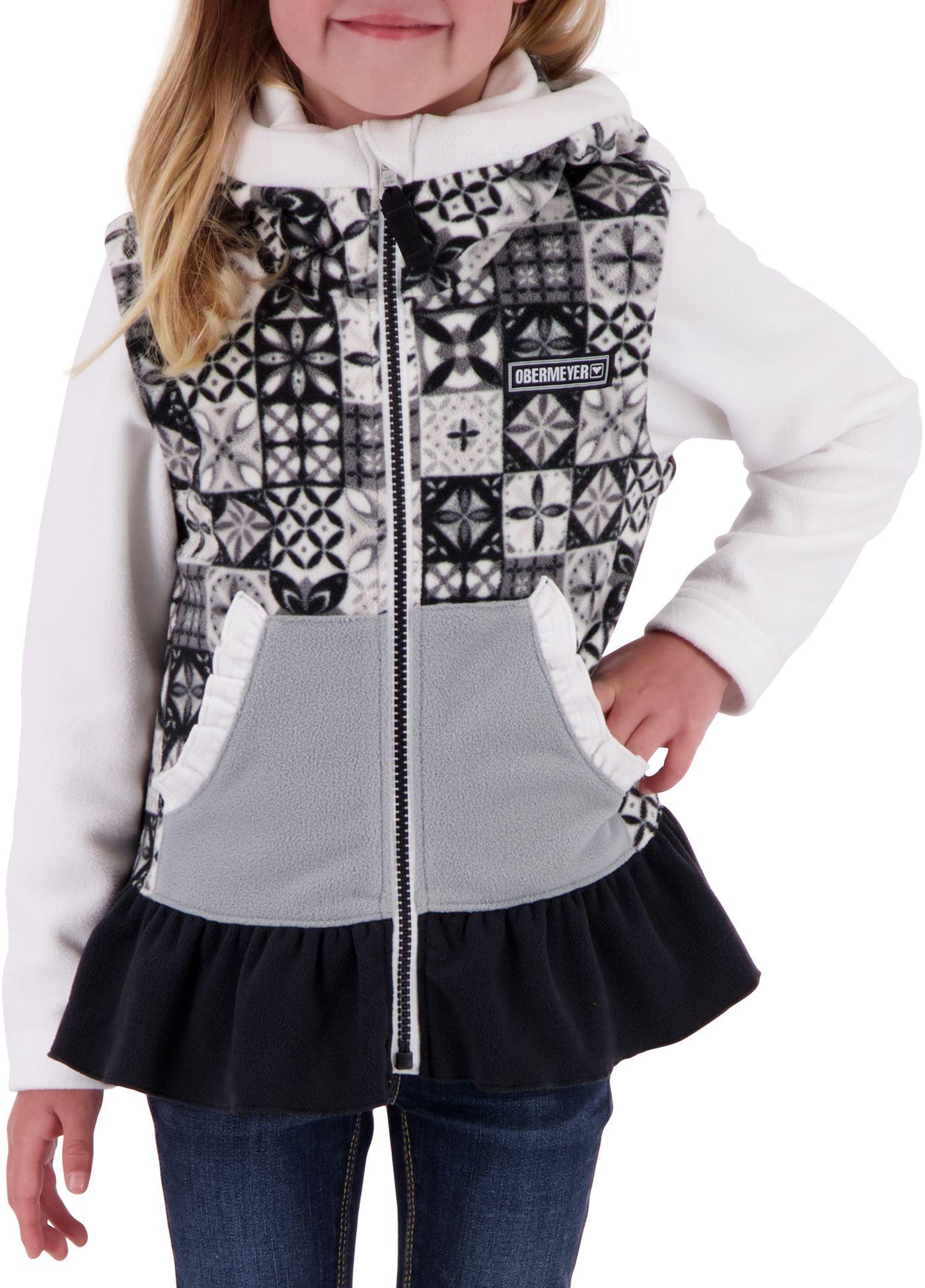 Obermeyer Girls' Mika Hooded Full Zip Fleece Vest