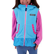 Obermeyer Girls' Mika Hooded Full Zip Fleece Vest