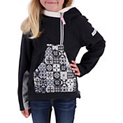Obermeyer Girls' Aiya Half Zip Fleece Pullover Hoodie