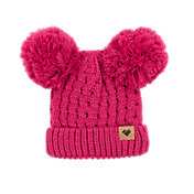 Obermeyer Kids' Fayetteville Knit Double Pom Hat