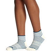 Bombas Women's Shadow Stripe Rib Quarter Socks