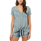 O'Neill Women's Conley Short Sleeve Woven Shirt