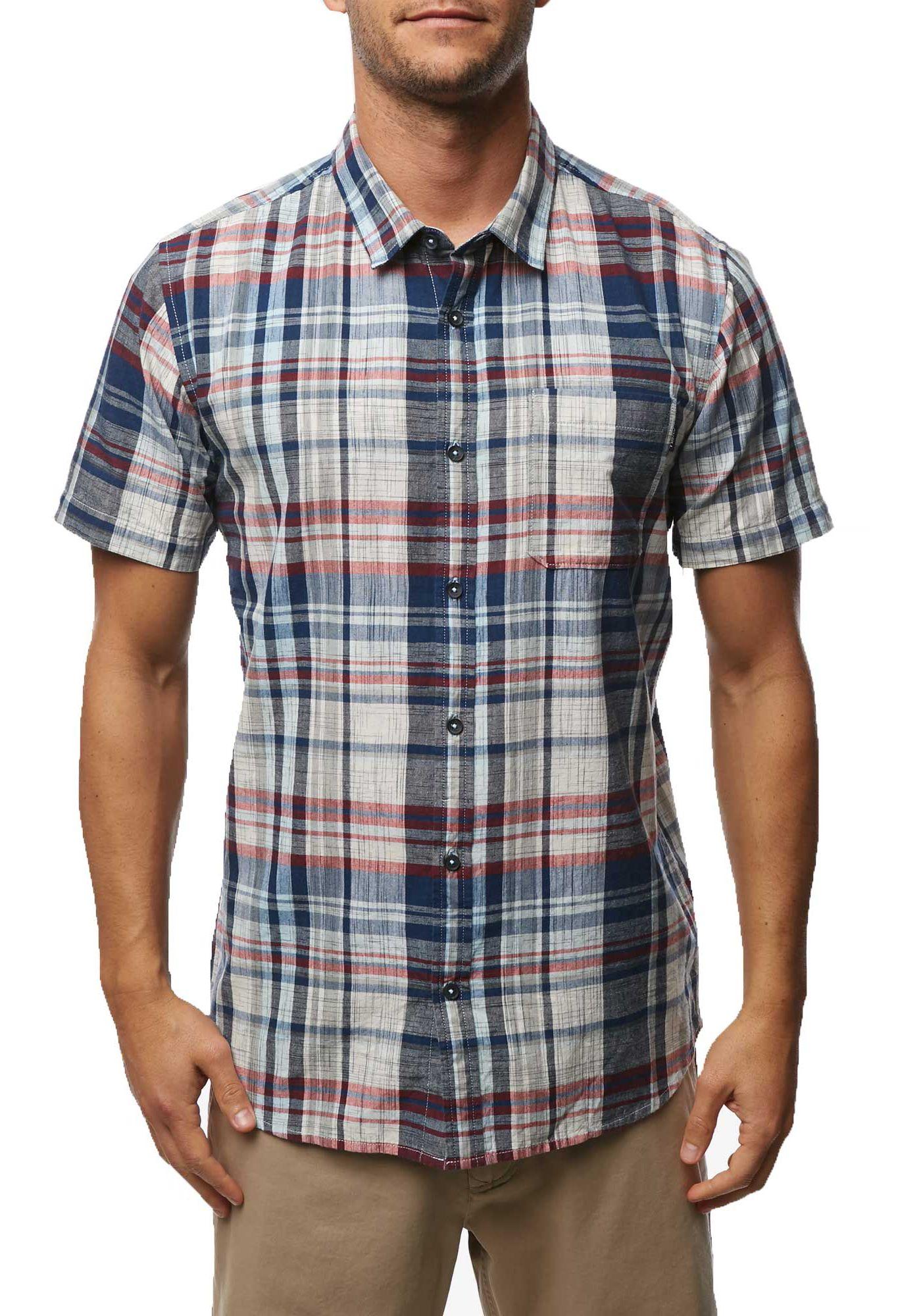 O'Neill Men's Contikka Plaid Short Sleeve Shirt