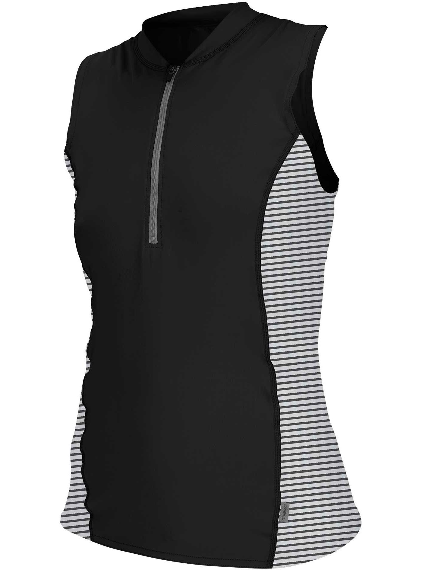 O'Neill Women's Front Zip Cap Sleeve Rash Guard
