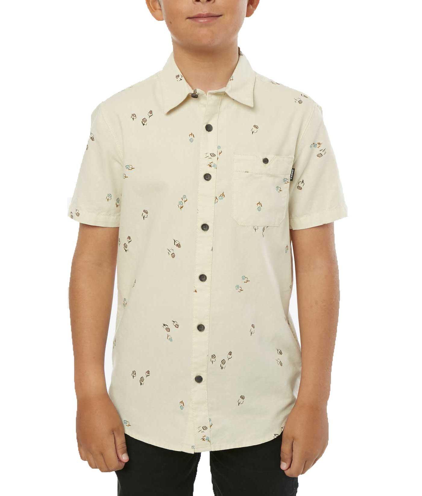 O'Neill Boys' Freeequency Short Sleeve Button Up Shirt