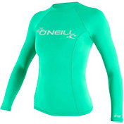 O'Neill Women's Basic Skins Long Sleeve Rash Guard