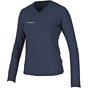 O'Neill Women's Hybrid V-Neck Long Sleeve Rash Guard