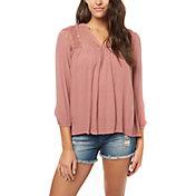 O'Neill Women's Mara Long Sleeve Woven Shirt