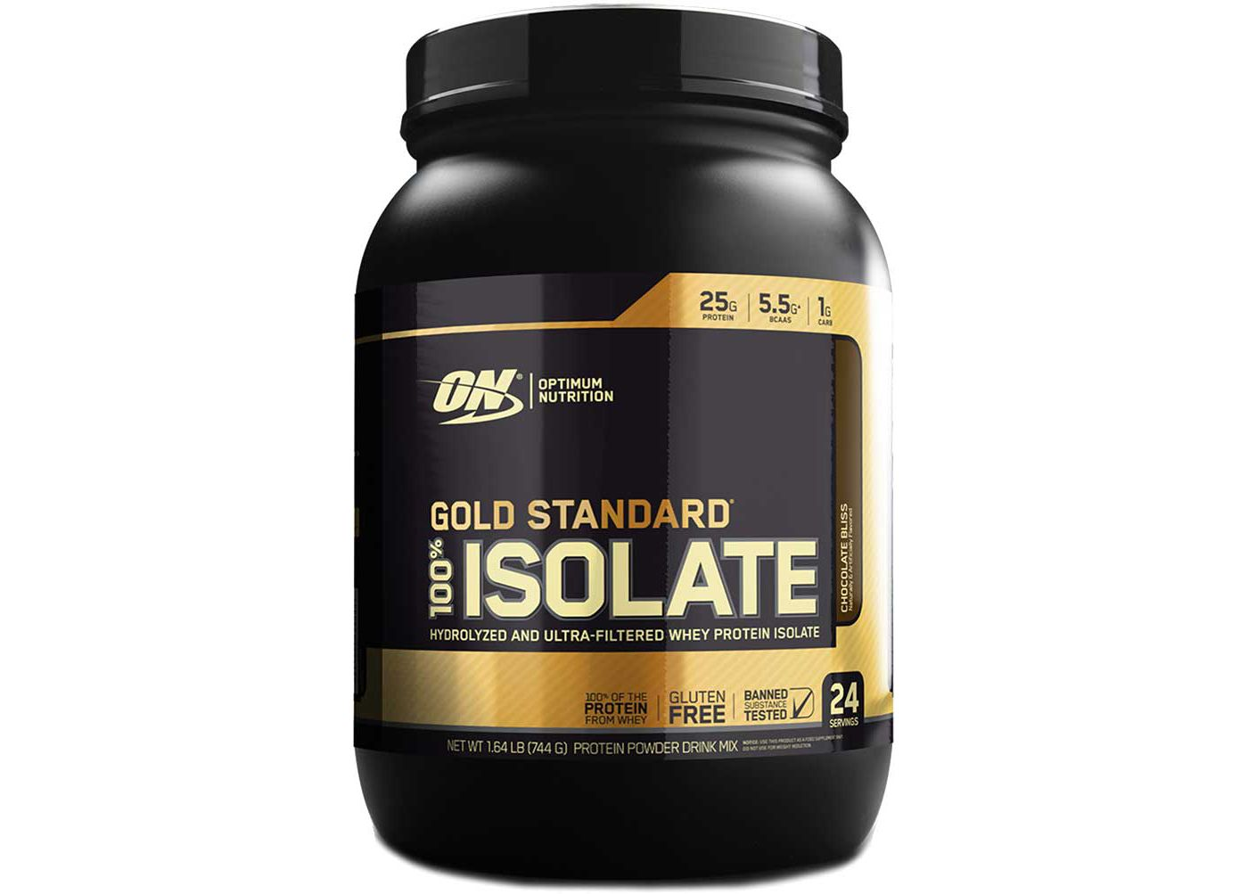 Optimum Nutrition Gold Standard 100% Isolate Protein Powder Chocolate Bliss 24 Servings