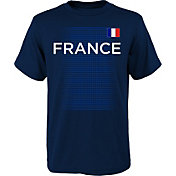 Outerstuff Youth France One Team Navy T-Shirt