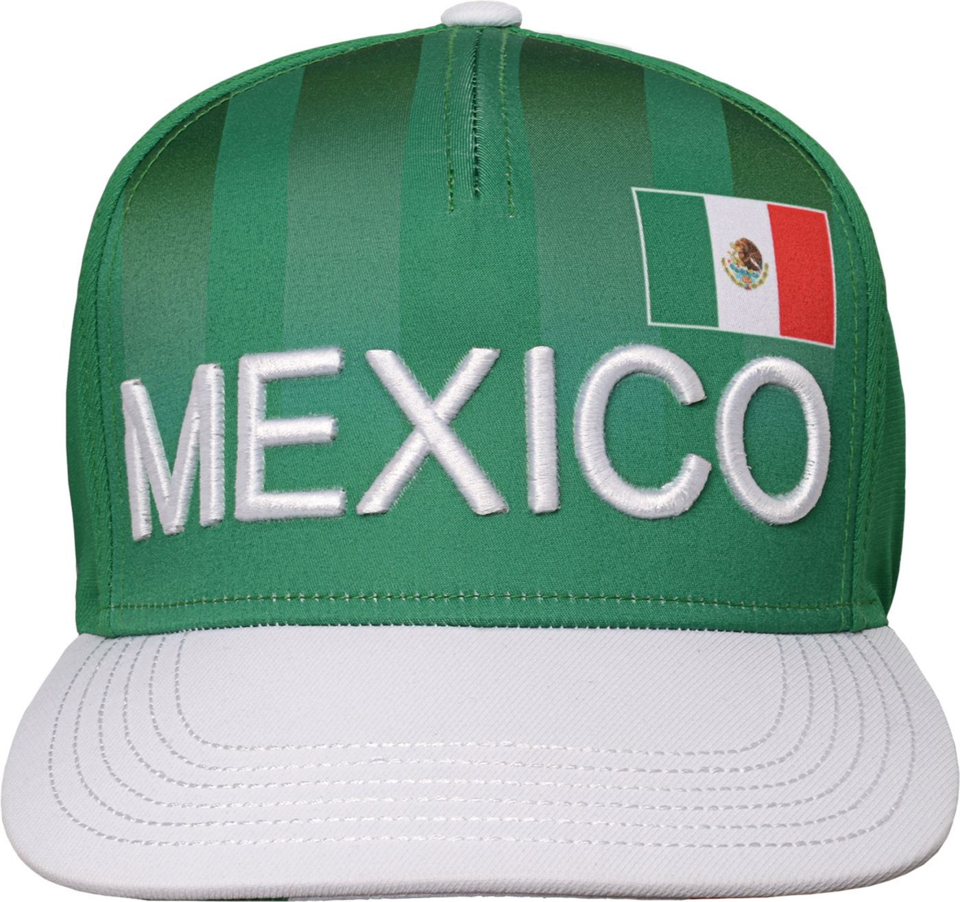 Outerstuff Youth Mexico Hook Flag Green Snapback Adjustable Hat