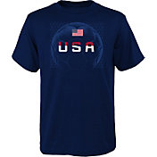 Outerstuff Men's USA Soccer Penalty Kick Navy T-Shirt