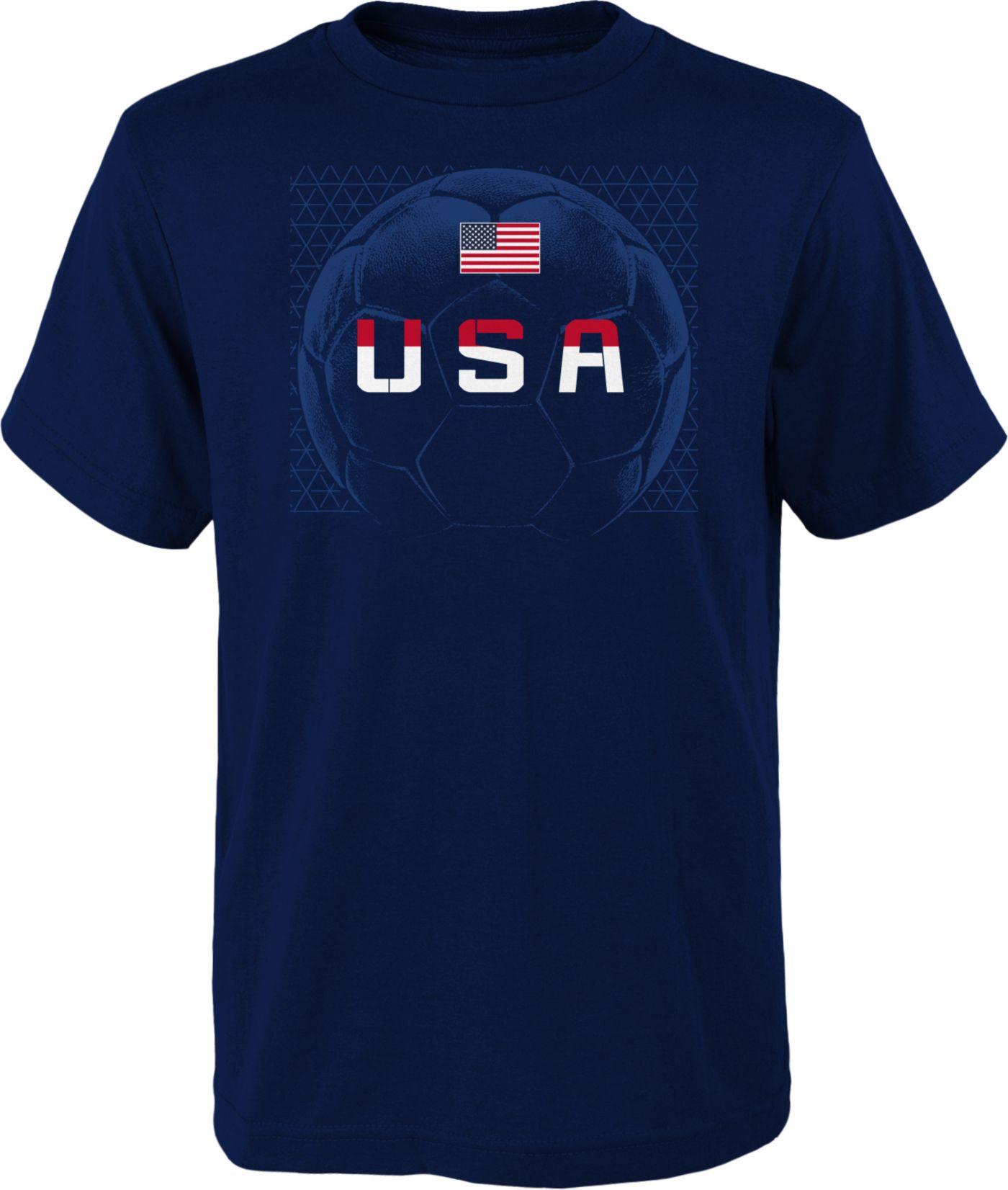 Outerstuff Men's USA Soccer Penalty Kick Navy T-Shirt