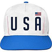 Outerstuff Youth USA Soccer Hook Flag White Snapback Adjustable Hat