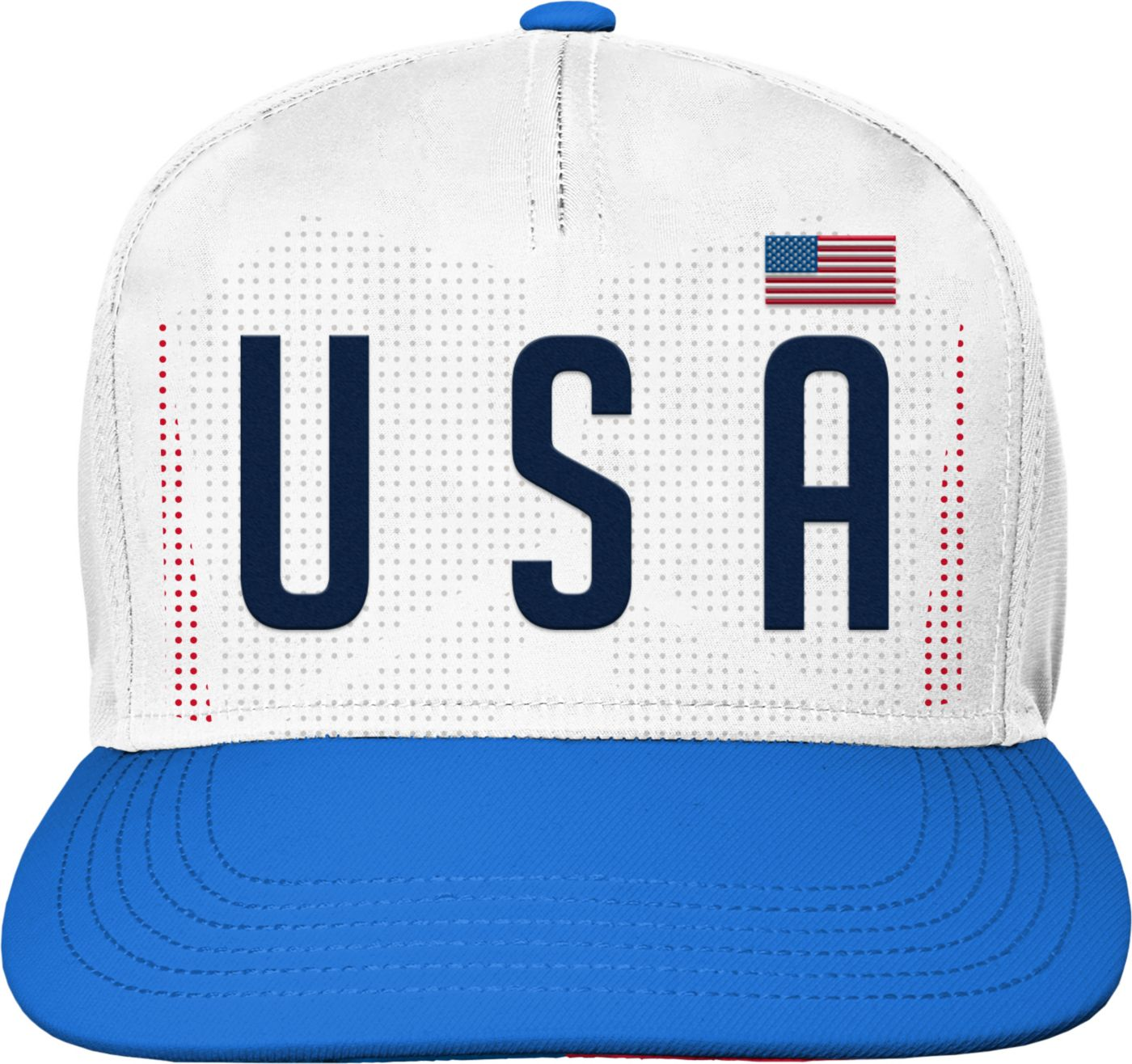 Outerstuff Youth USA Soccer Hook Flag White Snapback Adjustable Hat