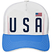 Outerstuff Youth USA Soccer Hook White Meshback Adjustable Hat