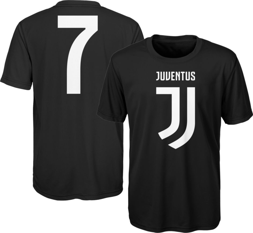 timeless design 5e1ae 216d8 Outerstuff Youth Juventus Cristiano Ronaldo #7 Black Player Tee