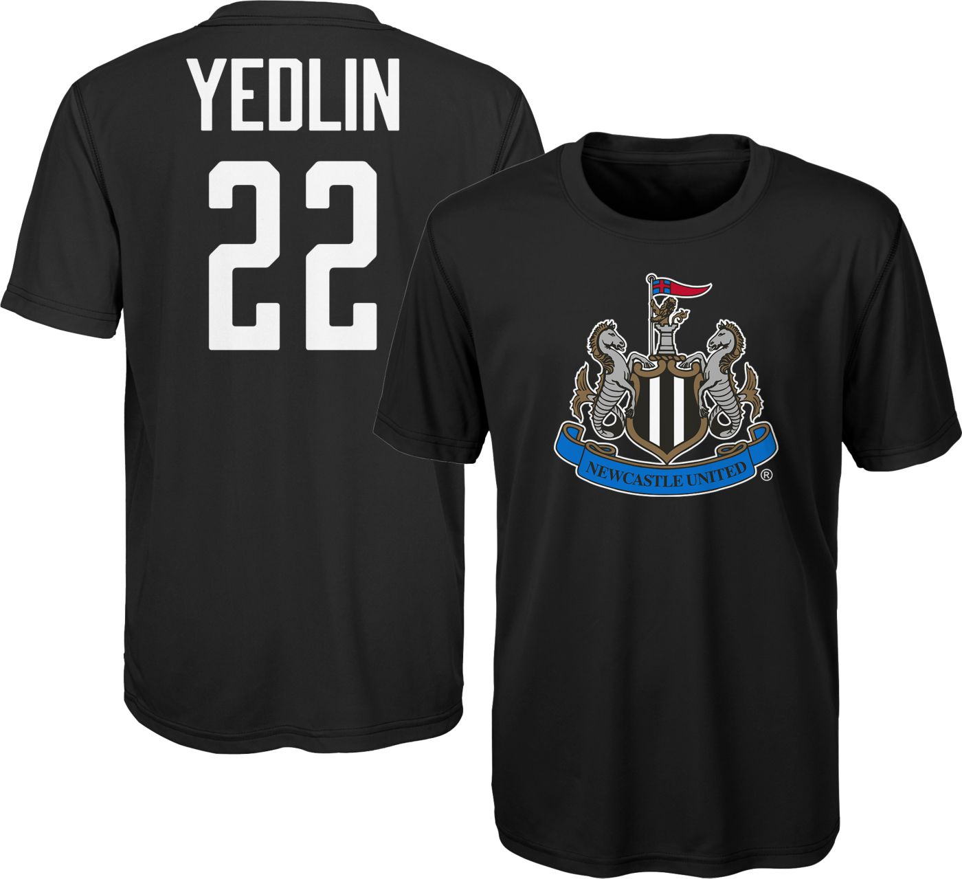 Outerstuff Youth Newcastle United DeAndre Yedlin #22 Black Player Tee