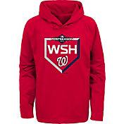 Majestic Youth Washington Nationals 2019 MLB Postseason On-Field Therma Base Hoodie