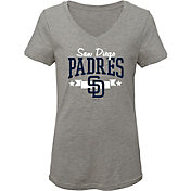 Gen2 Youth Girls' San Diego Padres Tri-Blend V-Neck T-Shirt