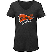 Gen2 Youth Girls' Baltimore Orioles Tri-Blend V-Neck T-Shirt