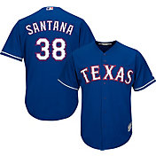 Majestic Youth Replica Texas Rangers Daniel Santana #38 Cool Base Alternate Royal Jersey