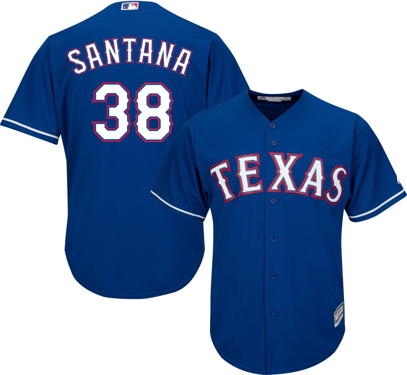 Majestic Youth Replica Texas Rangers Daniel Santana #38 Cool Base Alternate Royal Jersey