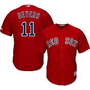 Majestic Youth Replica Boston Red Sox Rafael Devers #11 Cool Base Alternate Red Jersey